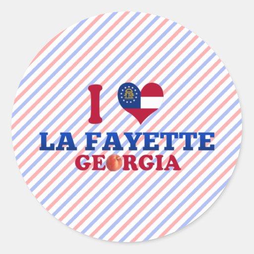 I Love La Fayette, Georgia Stickers
