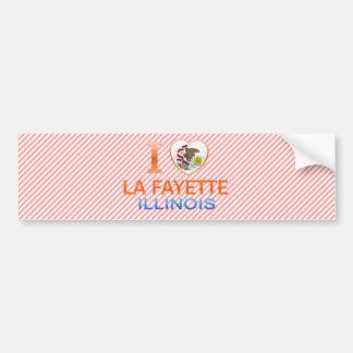 I Love La Fayette, IL Car Bumper Sticker