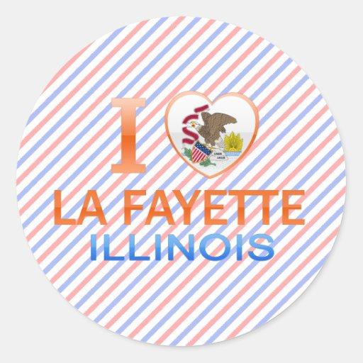 I Love La Fayette, IL Classic Round Sticker