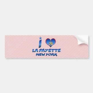 I love La Fayette, New York Car Bumper Sticker