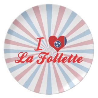I Love La Follette Tennessee Dinner Plates