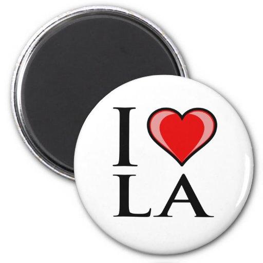 I Love LA - Louisiana 2 Inch Round Magnet