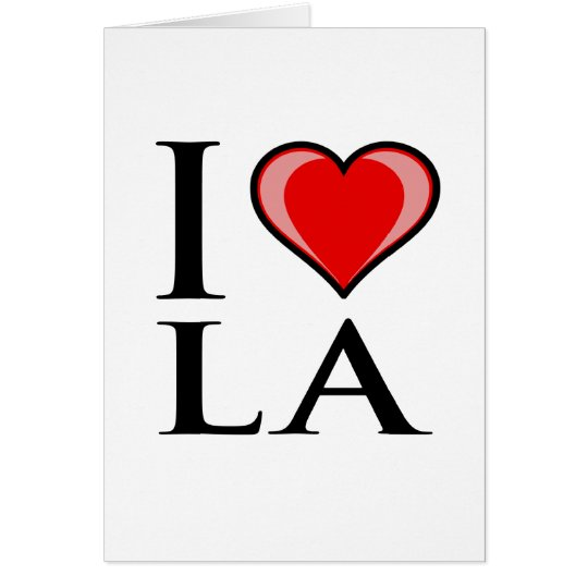 I Love LA - Louisiana Card