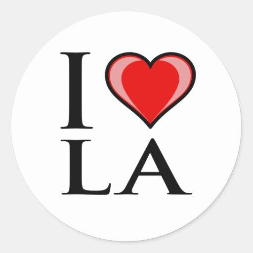 I Love LA - Louisiana Round Stickers