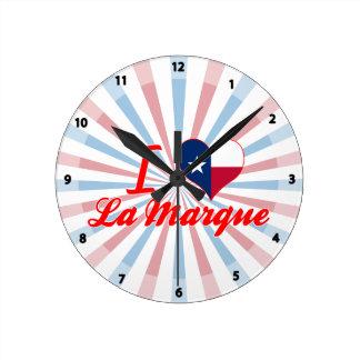 I Love La Marque, Texas Round Clock