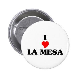 I love La Mesa 2 Inch Round Button