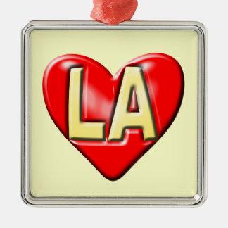 I Love LA Metal Ornament