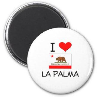 I Love LA PALMA California 2 Inch Round Magnet