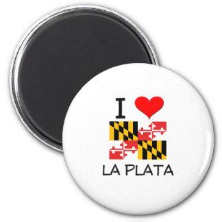 I Love La Plata Maryland 2 Inch Round Magnet