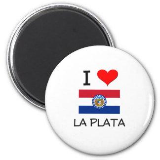 I Love La Plata Missouri 2 Inch Round Magnet