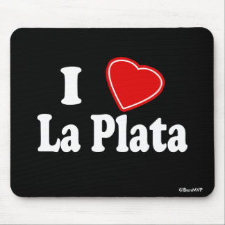 I Love La Plata Mouse Pads
