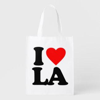 I LOVE LA REUSABLE GROCERY BAG