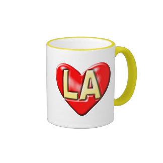 I Love LA Ringer Coffee Mug