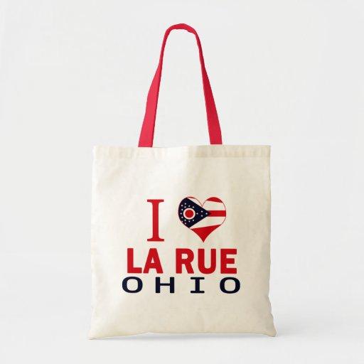 I love La Rue, Ohio Canvas Bags