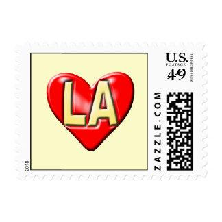 I Love LA Stamp