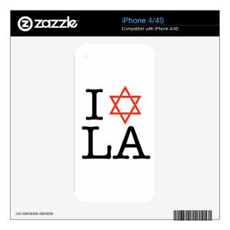 I Love LA ( Star Of David ) Skin For iPhone 4