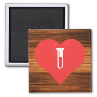 I Love Lab Equipment 2 Inch Square Magnet