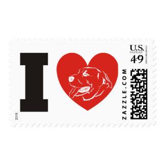 I Love Lab Labrador Retriever Stamp