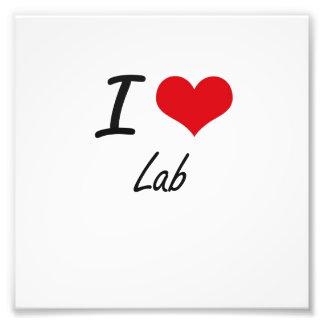 I Love Lab Photo Print