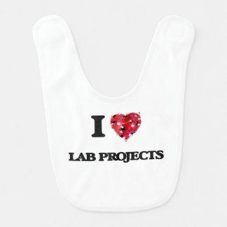 I Love Lab Projects Bibs