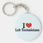 I Love Lab Technicians Keychains