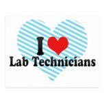 I Love Lab Technicians Post Card