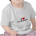 I Love Lab Technicians T Shirts