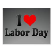 I love Labor Day Postcard