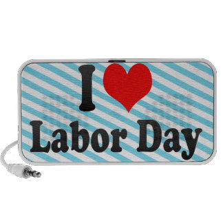 I love Labor Day iPhone Speakers