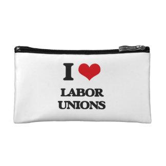 I Love Labor Unions Cosmetics Bags