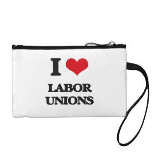 I Love Labor Unions Coin Purses