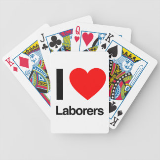 i love laborers bicycle playing cards