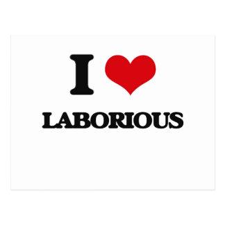 I Love Laborious Postcard