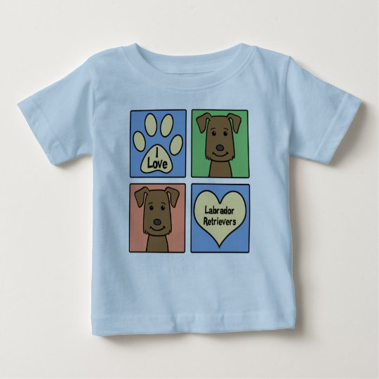 I Love Labrador Retrievers Baby T-Shirt