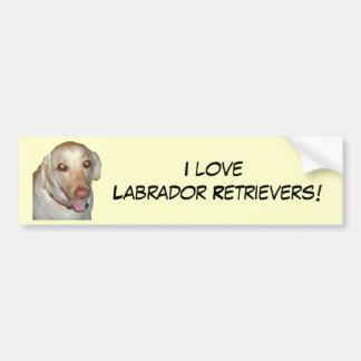 I love Labrador Retrievers! Bumper Sticker Car Bumper Sticker