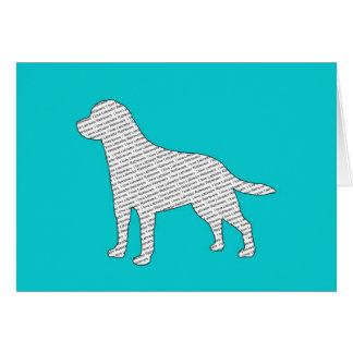 I Love Labrador Retrievers Card