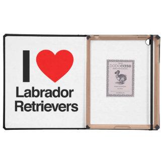 i love labrador retrievers covers for iPad