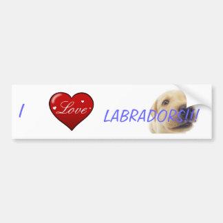 I love Labradors! Bumper Sticker
