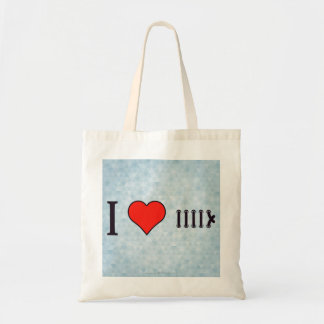 I Love Lacing It Up Tote Bag