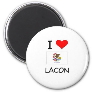I Love LACON Illinois 2 Inch Round Magnet