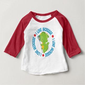 I Love Lacrosse Baby Dragon Kids T-shirt