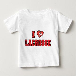 I Love Lacrosse Baby T-Shirt