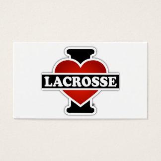 I Love Lacrosse Business Card