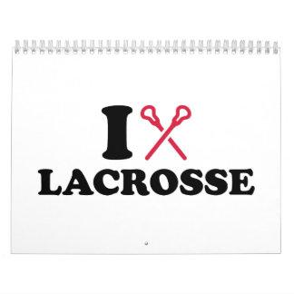 I love Lacrosse Wall Calendar