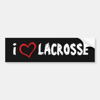 I Love Lacrosse Car Bumper Sticker