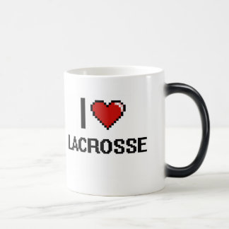 I Love Lacrosse Digital Retro Design 11 Oz Magic Heat Color-Changing Coffee Mug