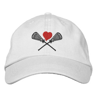 I Love Lacrosse Embroidered Cap Embroidered Baseball Cap