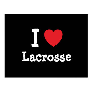 I love Lacrosse heart custom personalized Postcard
