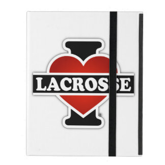 I Love Lacrosse iPad Case