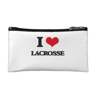 I Love Lacrosse Makeup Bag